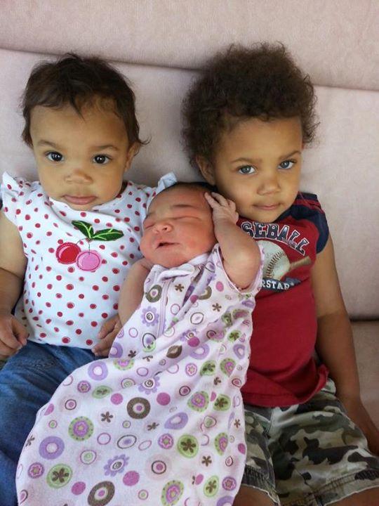 Kids Caleb 2.5, Kenz 12 months, Micki 2 days