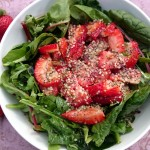 {Recipe} Spinach & Strawberry Salad (Raw, Vegan, Paleo, Gluten Free)