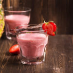 {Recipe} Strawberry Pineapple Protein Shake (Raw, Vegan, Paleo, Gluten Free)