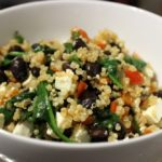 {Recipe} Black Bean, Feta, And Spinach Bowl {Vegetarian, Gluten Free}