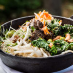 {Recipe} Asian-Inspired Rice Bowl with Greens & Kimchi {Vegan, Gluten Free}